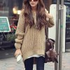 Stylish Hooded High Low Women Pullover Oversized Sweater