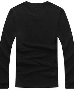 Solid Color Slim Fit Cotton Long Sleeve T Shirts