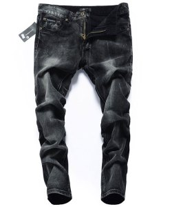 Skinny High-Grade Washed Black Pencil Jeans