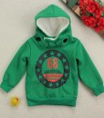 Boys Fleece Long Sleeve Jacket Coat Hooded Kids shirt Outwear