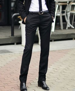 Slim Fit Business Dress Pants Casual Suit Pants