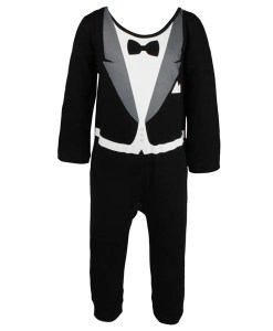 Business Suit Baby Boy Rompers Climbing Infant Gentleman Look Jumpsuit