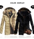 Outdoor Coat Thicken Cotton-Padded Hoodie Jacket Large Size
