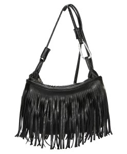 Lady PU Leather Tassel Shoulder Bag