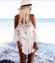 Strap Lace Chiffon Jumpsuit Rompers Playsuit