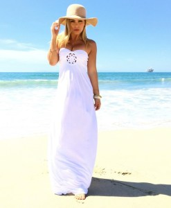 Hollow Cut out Detail Summer Maxi Dress