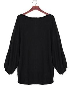 Loose Pullovers Batwing Long Sleeve Knitted Sweater
