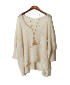 Fall Long Baggy Sweaters Batwing Knitting Sweater