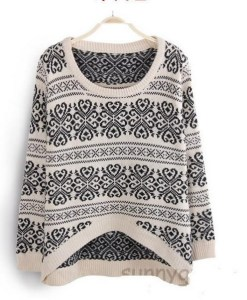 Knitted Long Sleeve Loose Sweater