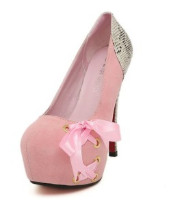 Robbons Bow Platform High Heels Shoes