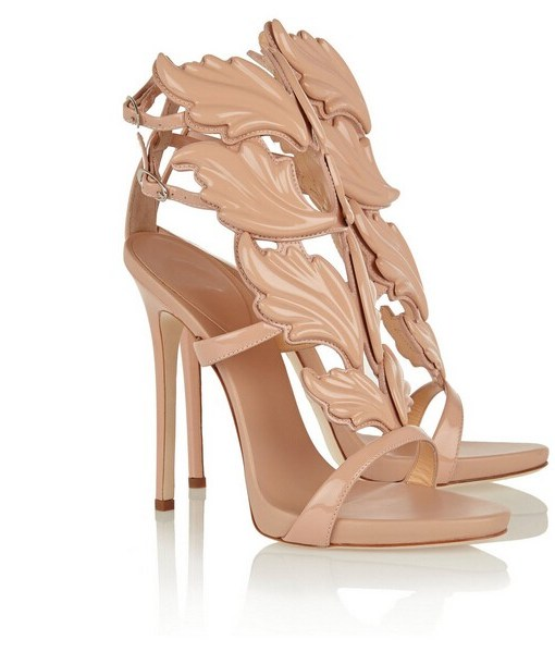 Gold Leaf Ankle Strap Gladiator Sandals