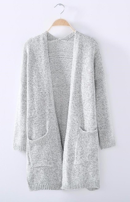 Long light grey cardigan – GonChas