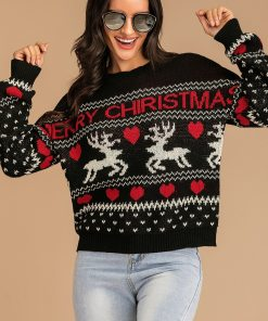 Knitting Loose Merry Christmas Sweater Winter Christmas 2020