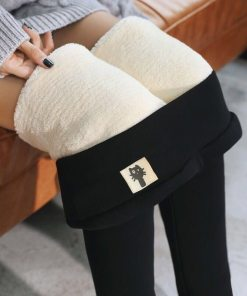 Warm Women's Velvet Winter Ankle-Length Leggings