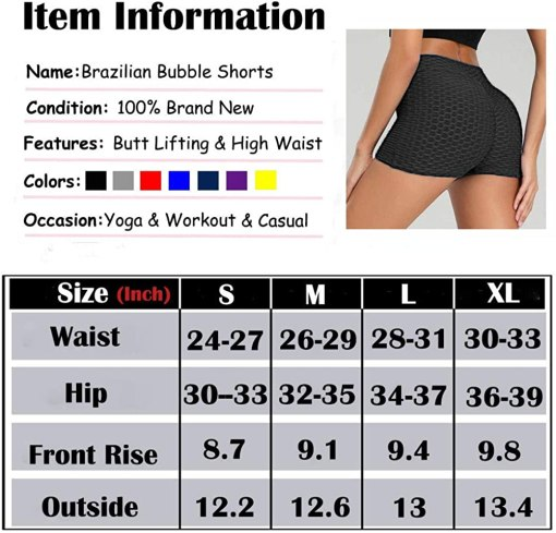 SEASUM Workout Booty Shorts for Women Scrunch Butt Lifting Yoga Short High Waist Sports Lounge Leggings