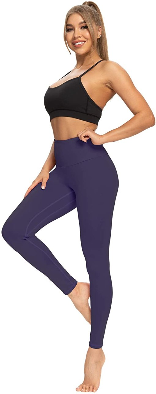 High Waisted Yoga Pants for Women Lightweight Workout Running Compression Leggings with Inner Pocket for Women