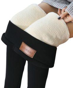 Warm Skinny Thick Velvet Wool Fleece Leggings Trousers