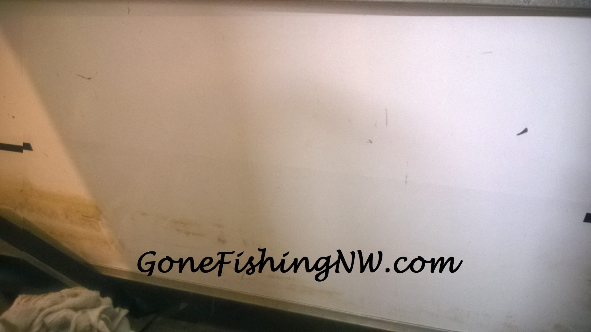 Removing Vinyl Boat Stickers Gone Fishing NW - Custom vinyl decals for boats   removal options