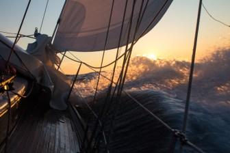 Stiff winds along the Alaska Peninsula