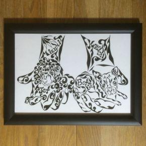 大切なペットを両手に入れて!犬好きの方に贈る世界で一つのアートなプレゼント