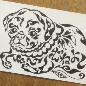 大好きなペットのわんちゃん(犬)の似顔絵風アート!大切な方に贈る絵のプレゼント