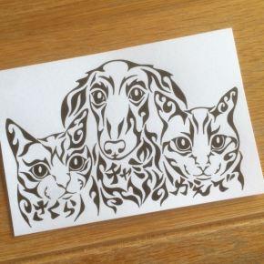 猫派でも犬派でも家族同然のペットが大好き!模様に名前も入れたペットの絵