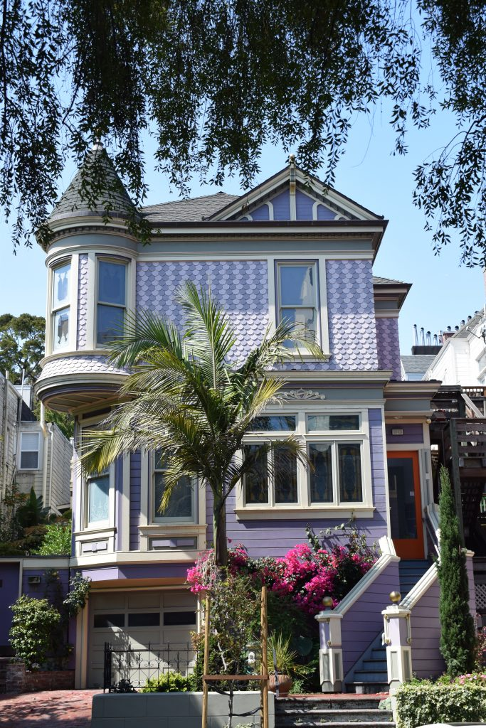 Purple house in San Francisco