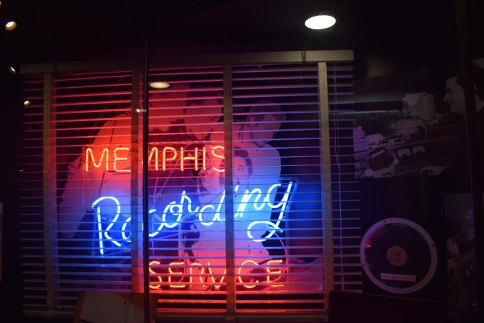 original neon sign of Memphis Recording Service