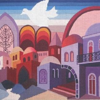 Jerusalem in Purple Tallit