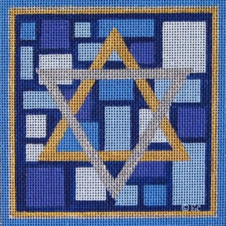 Star of David with Blue Squares