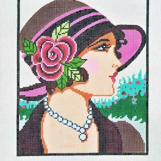 Vogue Lady in Burgundy