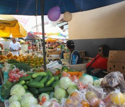 Castries market vegetables