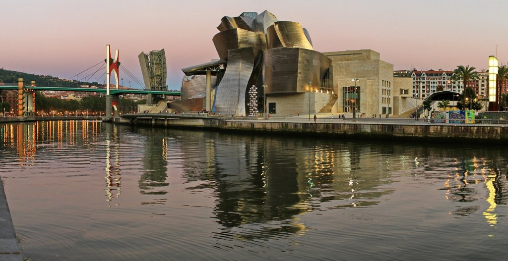 The Guggenheim Museum in Bilbao from the River