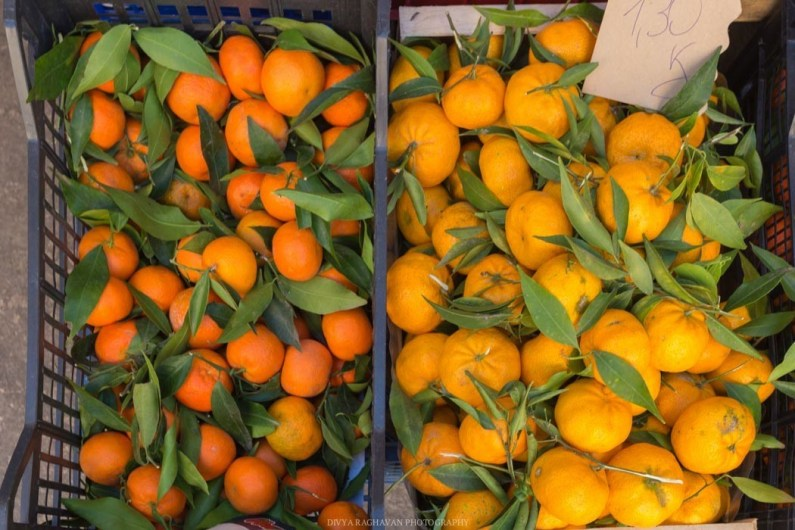 Oranges and lemons from the local groves.
