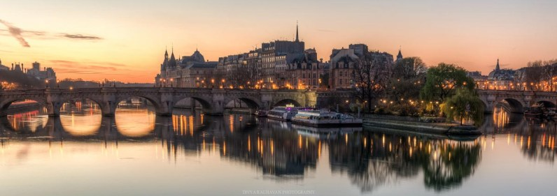 Sunrise from Pont des Arts, || Paris in two days, a complete guide and itinerary to the city of lights in France.