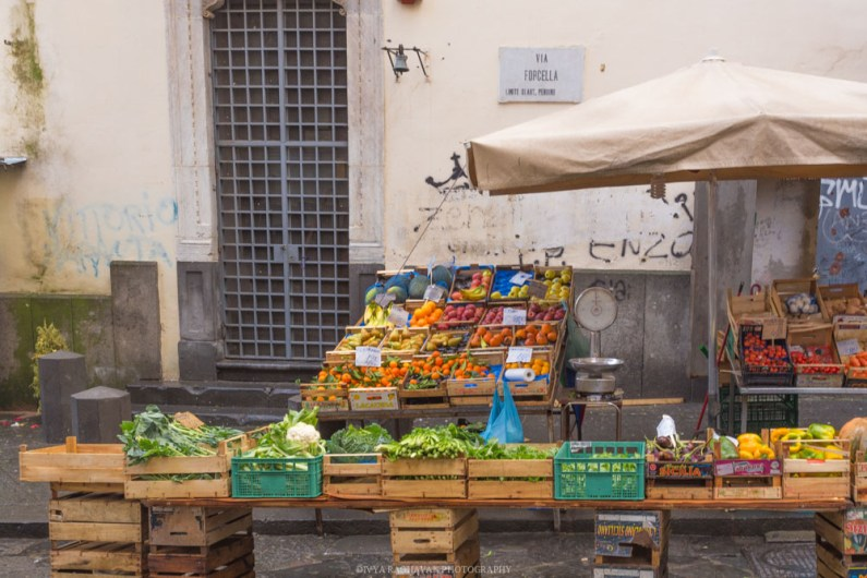 Vegetable stall, Naples, Italy
