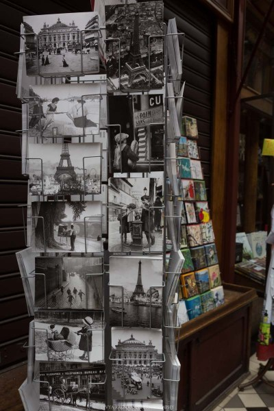 Vintage postcards at Passage du Grand Cerf, Paris, France || Paris in two days, a complete guide and itinerary to the city of lights in France.