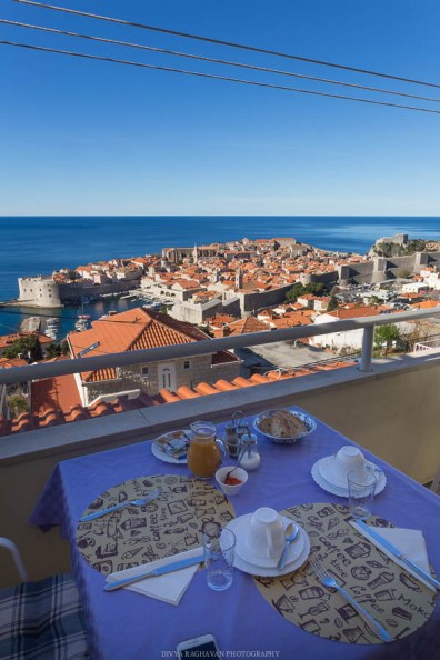 Breakfast with a view at Dubrovnik // Photos and stories from a week in Croatia // Memories from the Balkans // Dubrovnik, Split, and Zagreb