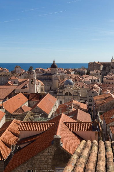 Sea of Rooftops seen from the Dubrovnik city walls // Photos and stories from a week in Croatia // Memories from the Balkans // Dubrovnik, Split, and Zagreb