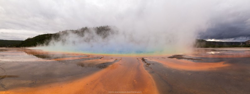The colors of the Grand Prismatic Spring, wow!