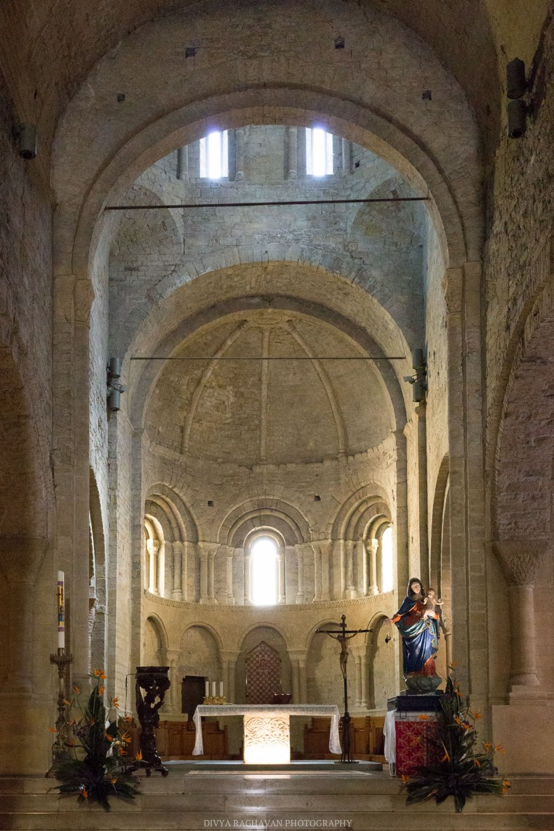The historic 10th century Romanesque church at the old town // A day trip to the medieval town of Ventimiglia, Italy from Nice, France // gonewithawhim.com