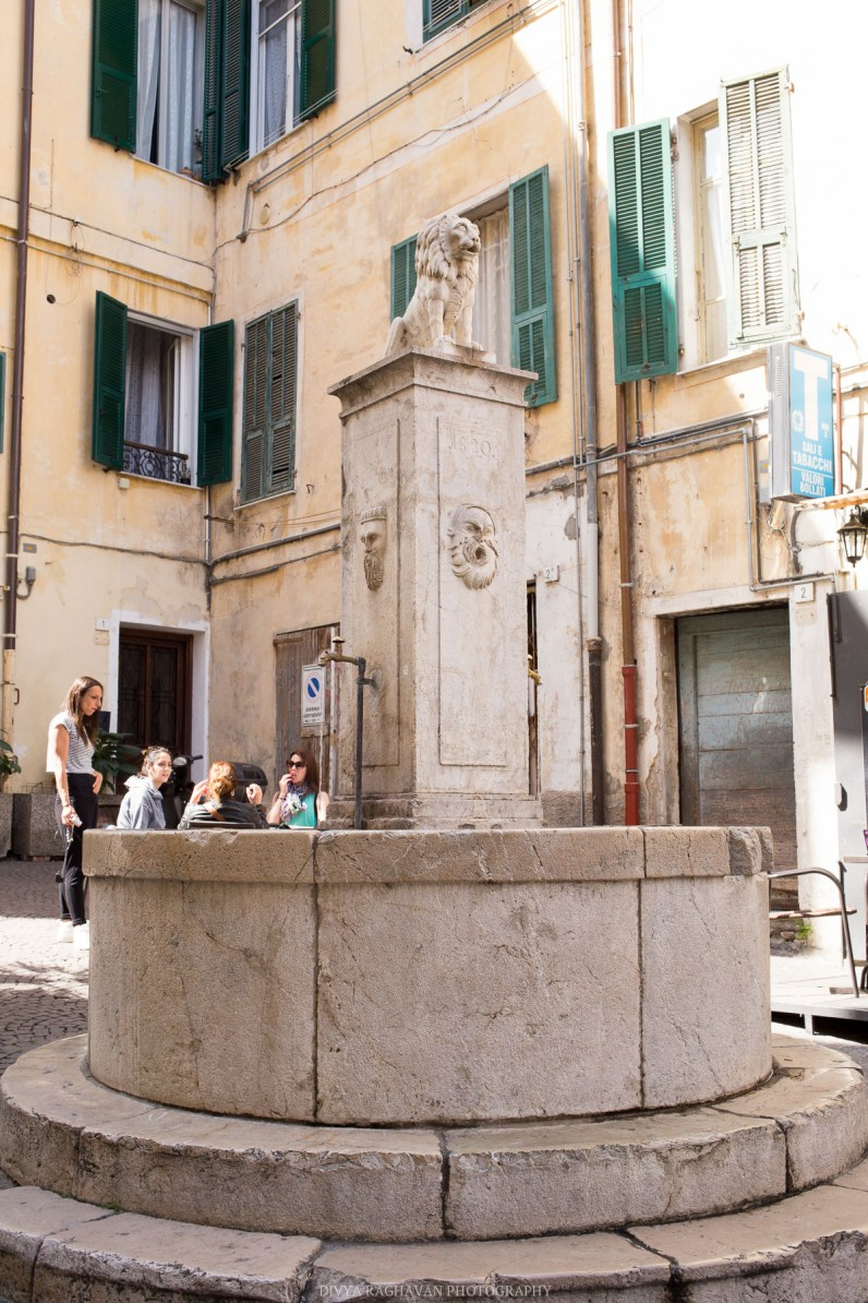 Quaint piazzas at the old town // A day trip to the medieval town of Ventimiglia, Italy from Nice, France // gonewithawhim.com
