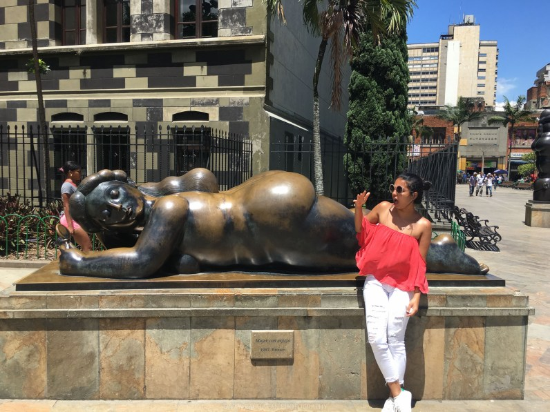 Amused by Botero's art at Plaza de Botero at Medellin, Colombia, South America -- Photos to inspire you to visit Colombia -- gonewithawhim.com