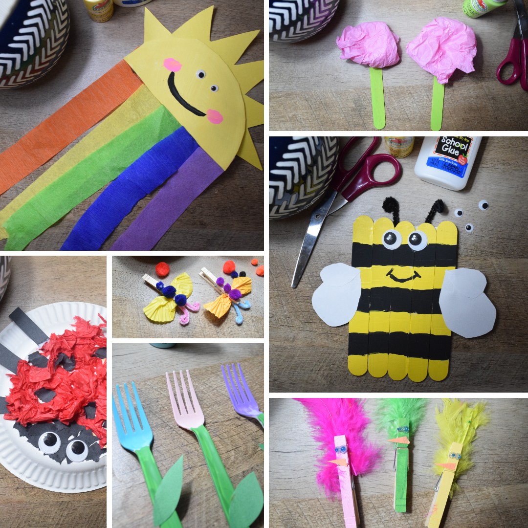 Easy Spring Crafts For Kids: 32+ craft ideas