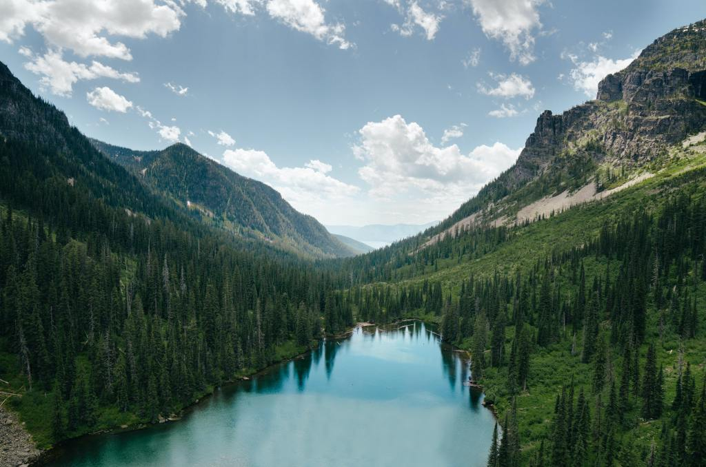 lake in the mountains in Montana