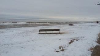 A deserted beach at Jurmala...