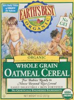 Earth's best baby cereal
