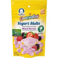 Gerber Organic Yogurt Melts Fruit Snacks