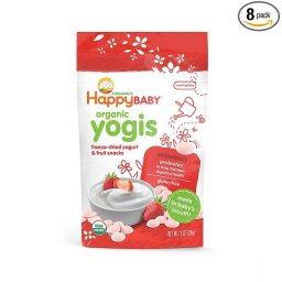 Happy Baby Organic Yogis Freeze-Dried Yogurt and Fruit snack