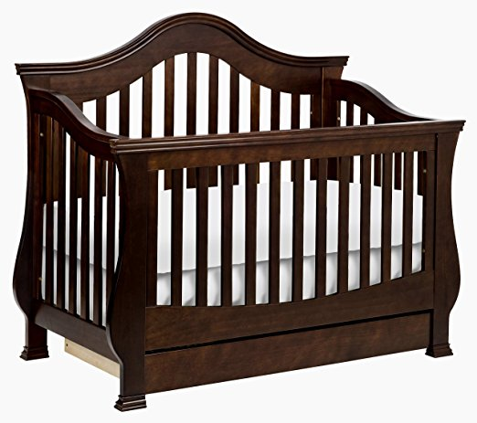 Million Dollar Baby Classic Ashbury 4 In 1 Convertible Crib With Toddler  Rail. Non Toxic ...